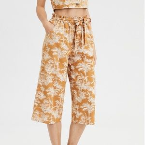 Golden Print High Waisted Paperbag Culotte | AE